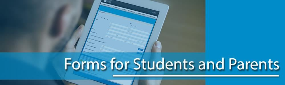 Forms for Students and Parents Web Banner