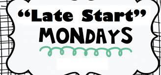 Late Start Mondays begin September 25th