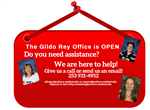 The Gildo Rey Office is OPEN! *click here for office email links*