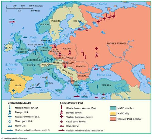 Map Of Germany Cold War.Grenz Michael Chapter 28 Cold War