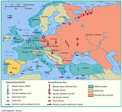 Cuban Missile Crisis Cold War Map