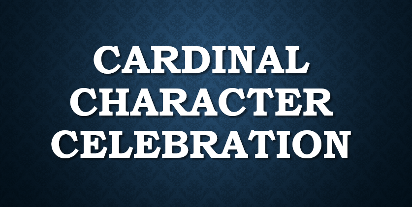 Cardinal Character Celebration Livestream on 1/5/21!