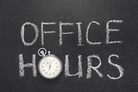 Principal Office Hours