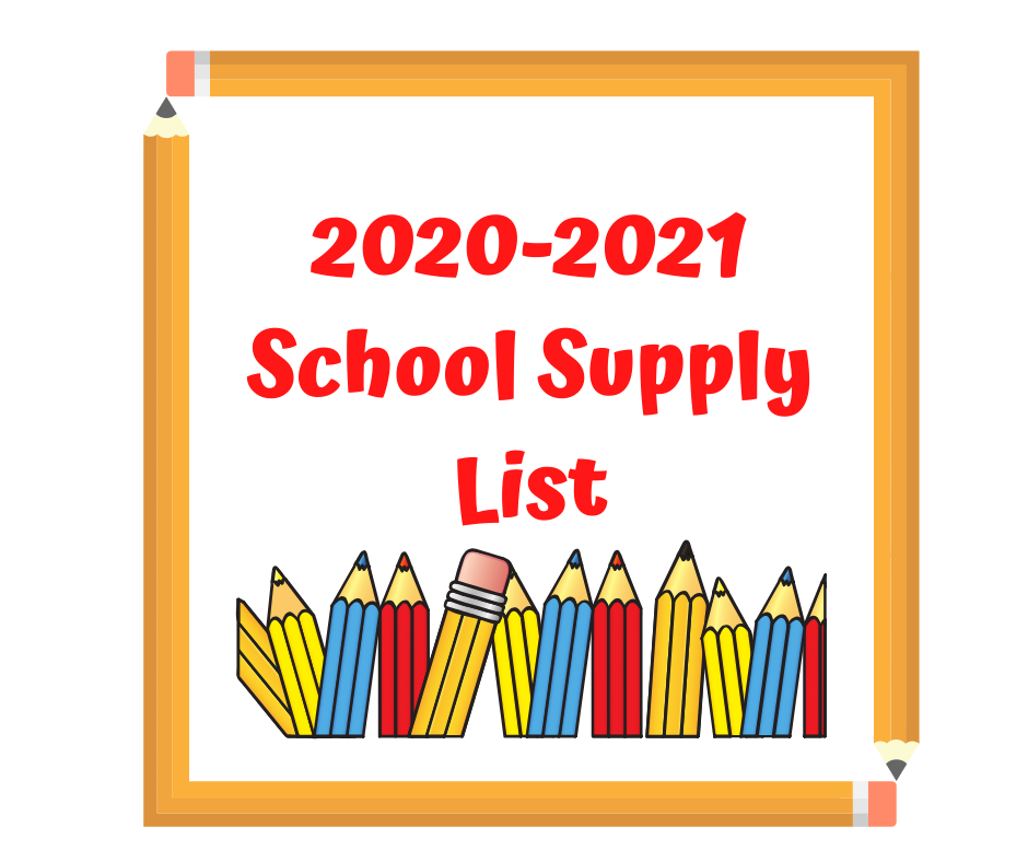 Distance Learning Student Supply List