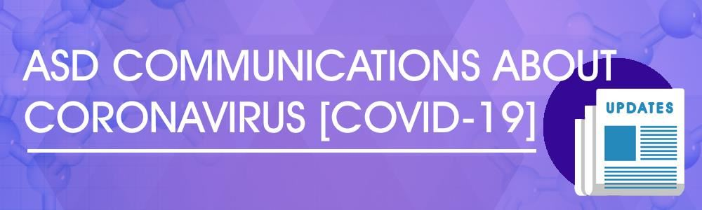 ASD Communictions About Coronavirus (COVID0-19) Web Banner