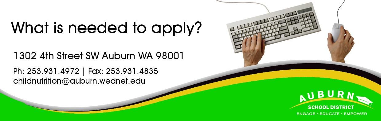 What is needed to apply? Web Banner - Hands on keyboard and mouse.
