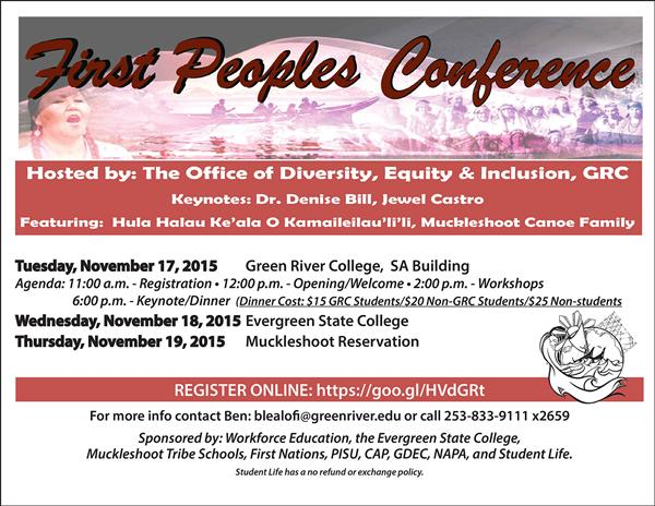 First Peoples Conference at Green River College 11/17/2015