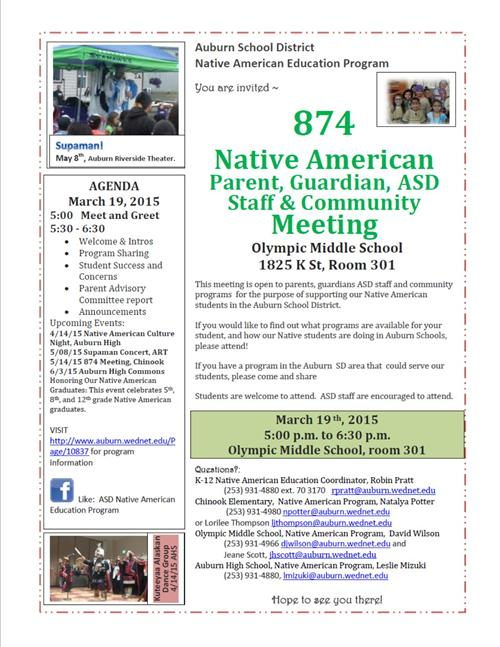 Native Parent Meeting