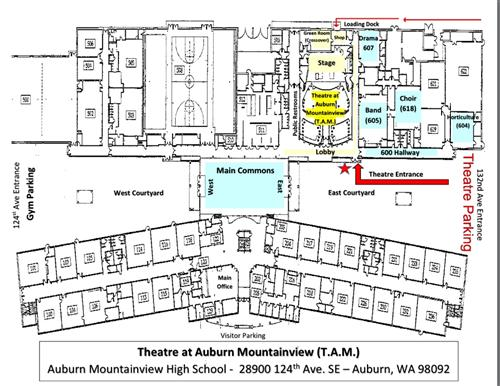 Performing Arts Theatre At Auburn Mountainview Map Directions